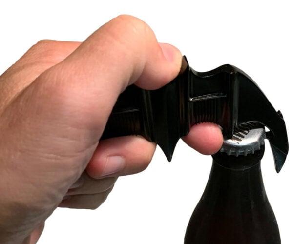 1989 Batman Batarang Metal Bottle Opener: Alfred, Beer Me!