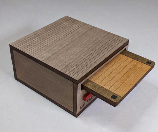 Store Your Floppy Disk Coasters in a Wooden Floppy Drive