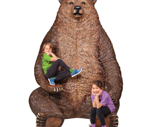 Giant Bear Statue with Paw Seat: For Your (Man) Cave