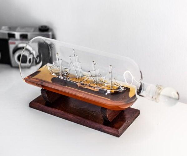 Glass Ship in a Bottle Liquor Decanter: Grog Me!