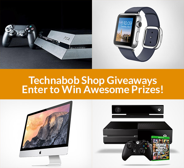 Win Prizes in the Technabob Shop